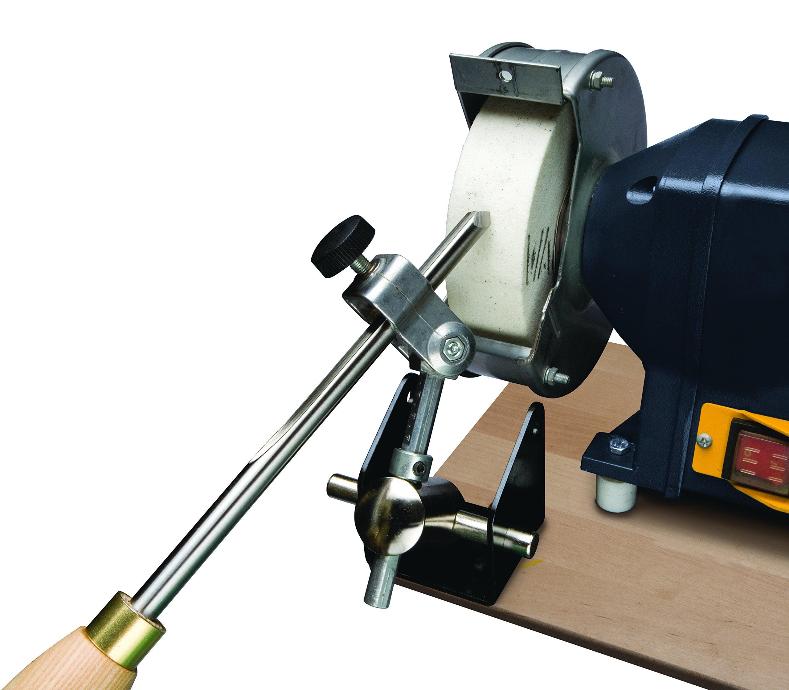 Robert Sorby # 445 Fingernail Profiler Sharpening Jig for Spindle and Bowl Gouges Works with Bench Grinders