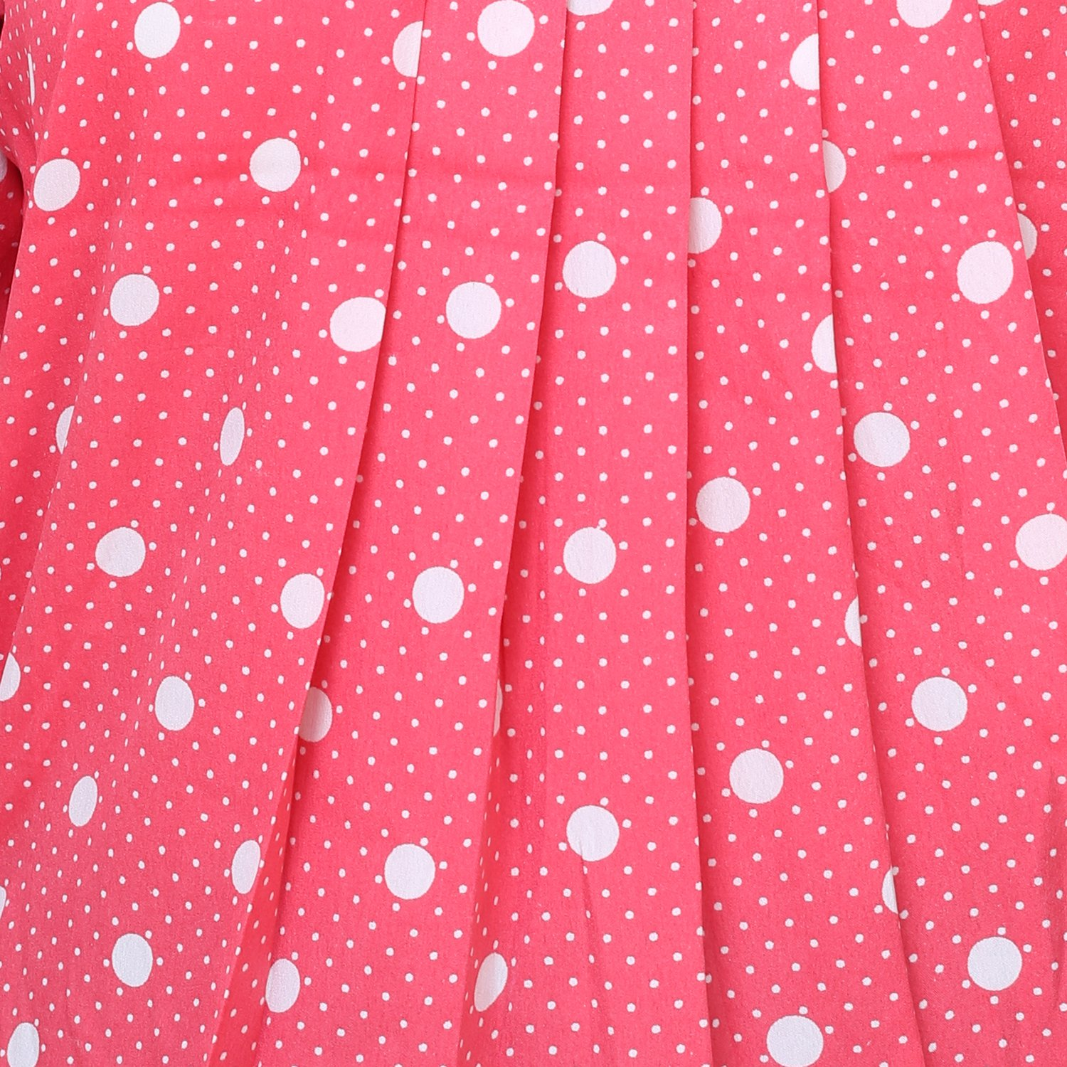 bae78e69f0eba0 Deewa Pink Polka Dots Top (Small)  Amazon.in  Clothing   Accessories