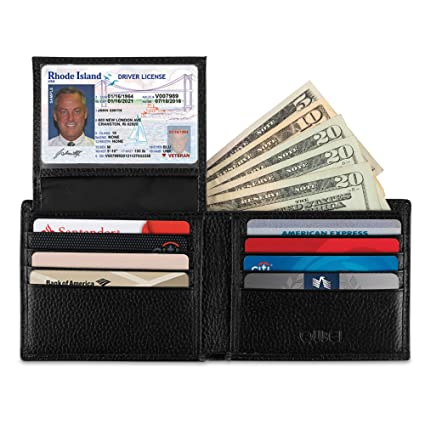 Bloqueo RFID cartera para hombres – Genuine leather-super Slim diseño – excelente Protector Tarjeta