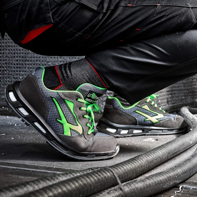 U-Power RL20036 Chaussures de S/écurit/é Gris//Vert S1P SRC Taille 48