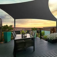 Instahut Sun Shade Sail Cloth Shadecloth Outdoor Canopy Awning Black 280gsm 4x6m