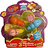 FlipaZoo SERIES 1 - Mini Collectible Figures 3 Pack - Includes 3 FlipaZoo for 6 Times the Fun - STYLE 4