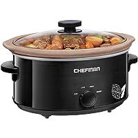 Chefman Slow Cooker, All Natural/Chemical-Free/Glaze-Free Pot, Stovetop and Oven Safe Crock;