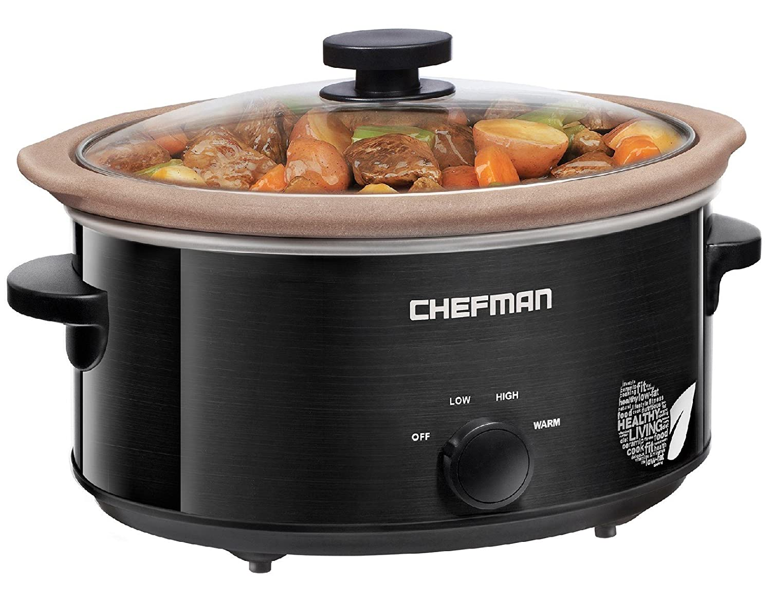 Chefman Slow Cooker, All Natural / Glaze-Free Pot, Stovetop and Oven Safe Crock; the Only Nonstick Paleo Certified XL 5 Qt Slow Cooker