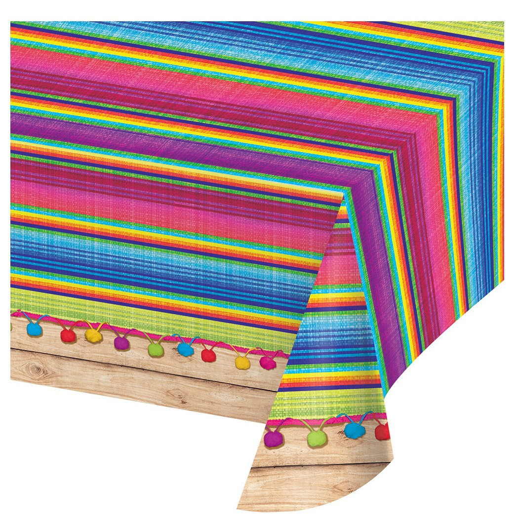 Creative Converting 324357 Print Plastic Tablecover, 54 x 102-Inch, Serape, Table Cover