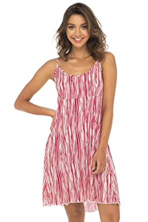 0744ecdf3390 Back From Bali Womens Sleeveless Summer Short Dress, Knee Length Casual  Striped Sexy Beach Dress at Amazon Women's Clothing store: