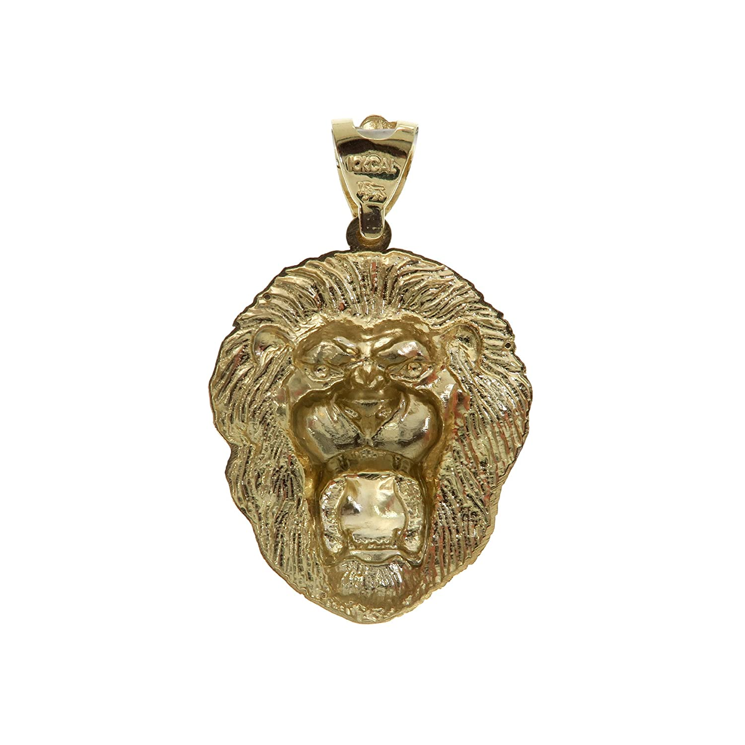 Traxnyc Genuine Stamped Authentic 10K Yellow Two-Tone Gold Charm Pendant Hip Hop Jewelry Gift