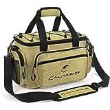 Calamus Fishing Tackle Bags - Fishing Bags for Saltwater or Freshwater Fishing - Rip-Stop PE - Padded Shoulder Strap - Pliers