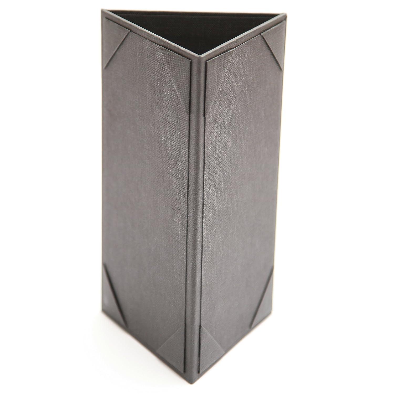 (16 Pack) Table Tent Menu Holder - 3 Sided 8'x4' Sheet Size Menu-Depot