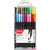 Maped Graph'Peps Fineliners Set - Pack of 20