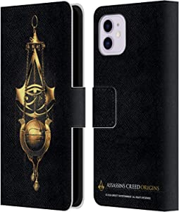 Head Case Designs Officially Licensed Assassin's Creed Piece of Eden Origins Crests Leather Book Wallet Case Cover Compatible with Apple iPhone 11