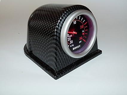 Etopars/™ Carbon Fiber 2 52mm Universal One Hole Dash Dashboard Car Gauge Pod Mount Holder ABS