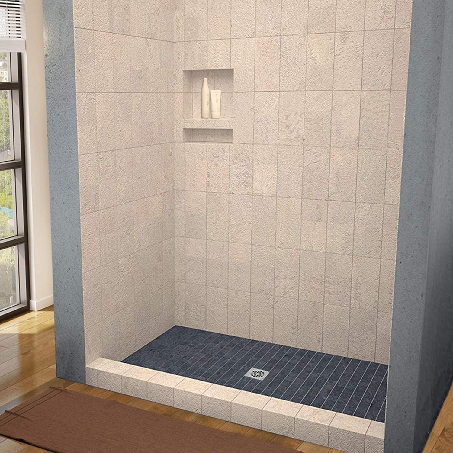 Woodbridge Tileable Shower Base 60 X32 With Integrated Center Pvc