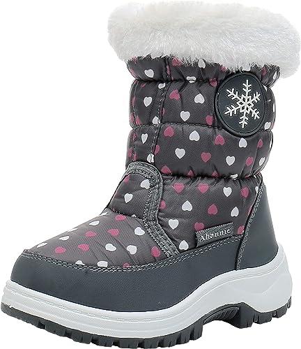 Ahannie Toddler Girls Warm Snow Boots