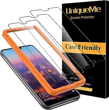 Uniqueme 3 Pezzi Pellicola Protettiva Per Huawei P20 Pro Vetro Temperato 9h Hd Ultra Resistente Bubble Free Amazon It Elettronica