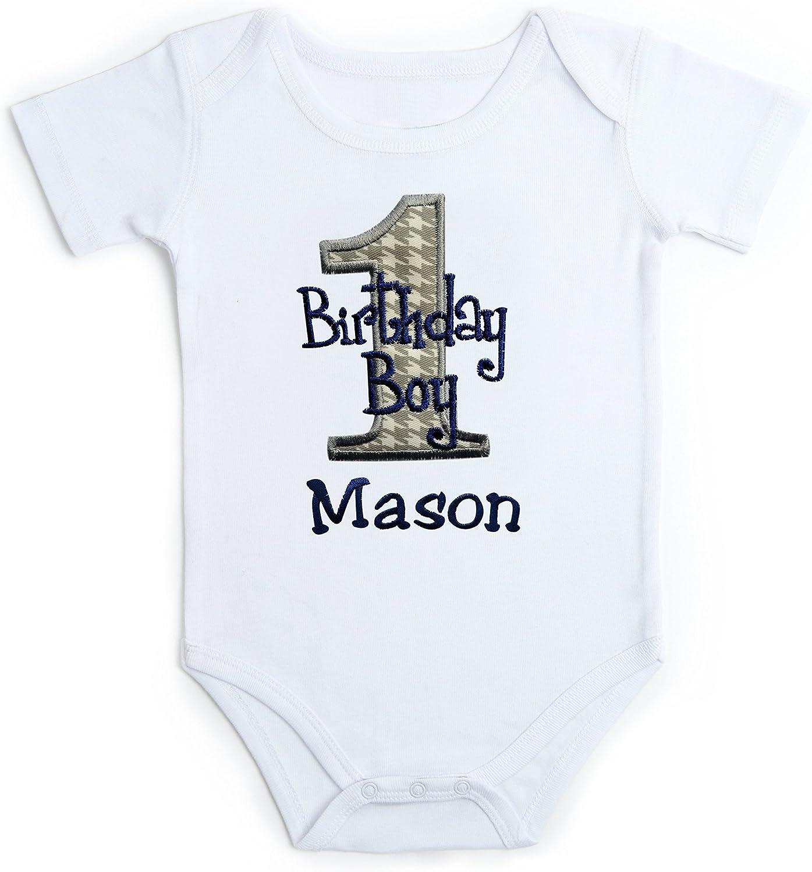 Embroidered baby vest 1st Birthday coloured bodysuit design 2