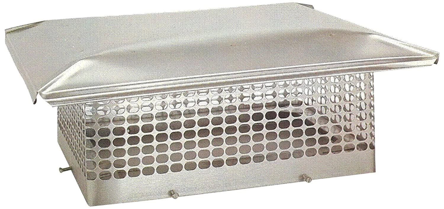 Amazon.com: The Forever Cap CCSS1721 17 X 21 Inch Stainless Steel 5/8 Inch  Spark Arrestor Mesh Chimney Cap: Home Improvement