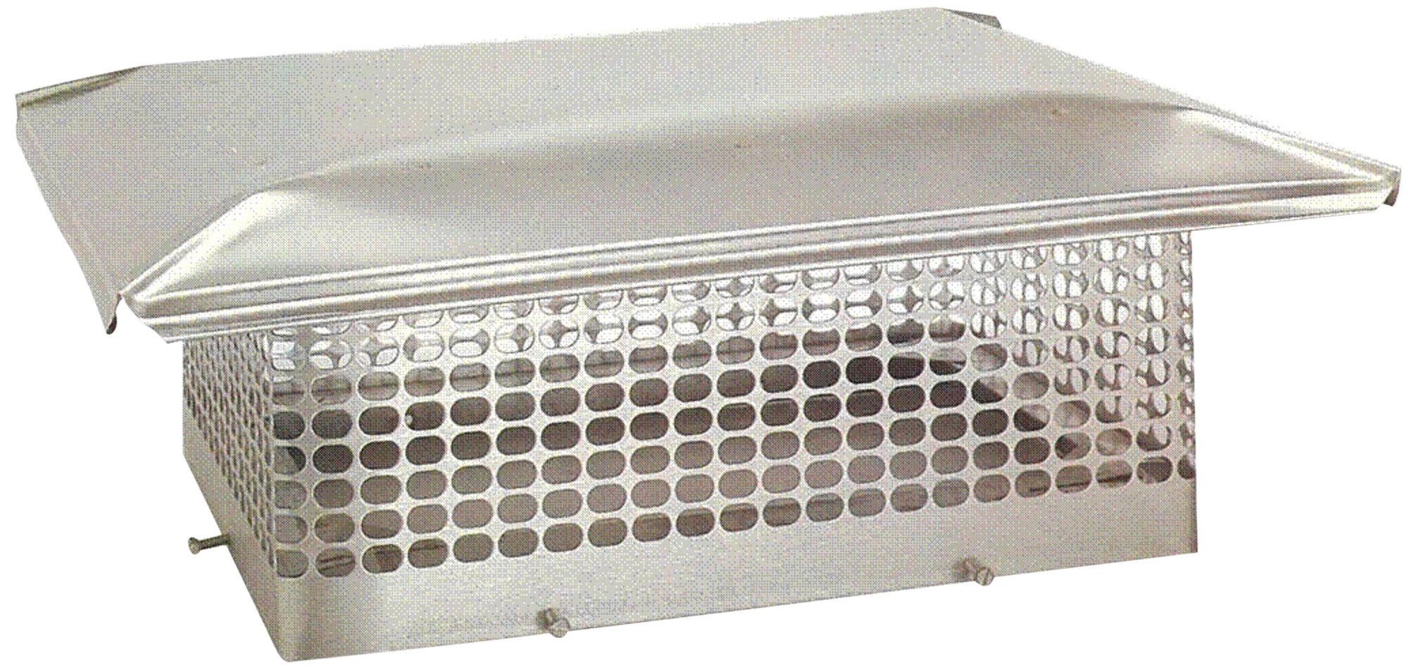 The Forever Cap CCSS1721 17 x 21-Inch Stainless Steel 5/8-Inch Spark Arrestor Mesh Chimney Cap by The Forever Cap