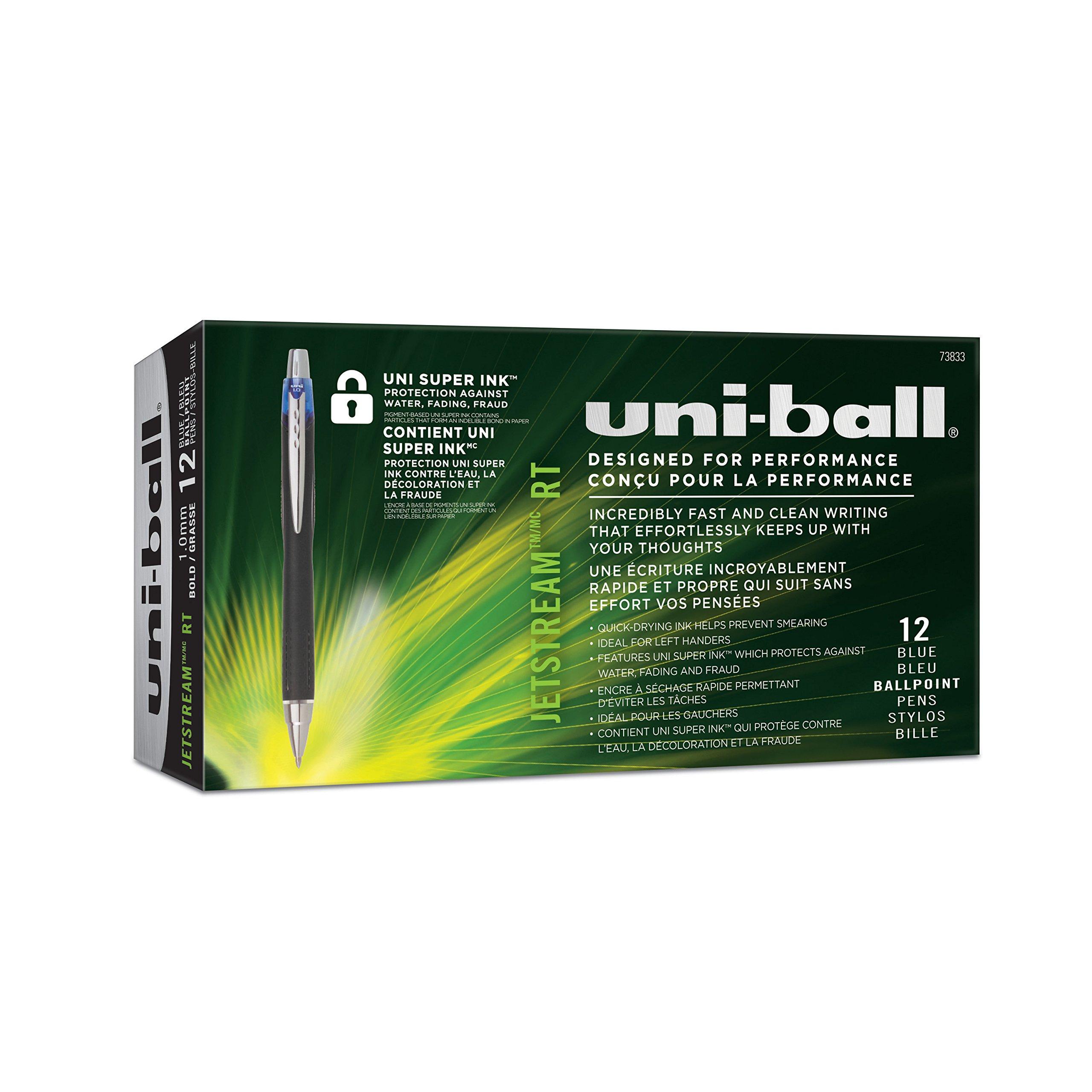 uni-ball Jetstream RT Ballpoint Pens, Bold Point (1.0mm), Blue, 12 Count by Uni-ball (Image #8)