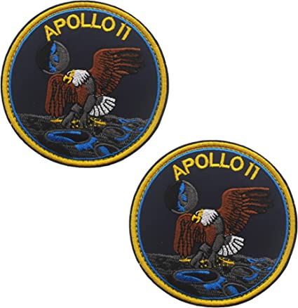 Apollo 11 50th Anniversary Patch Iron on Badge Nasa Space Moon Landing Souvenir