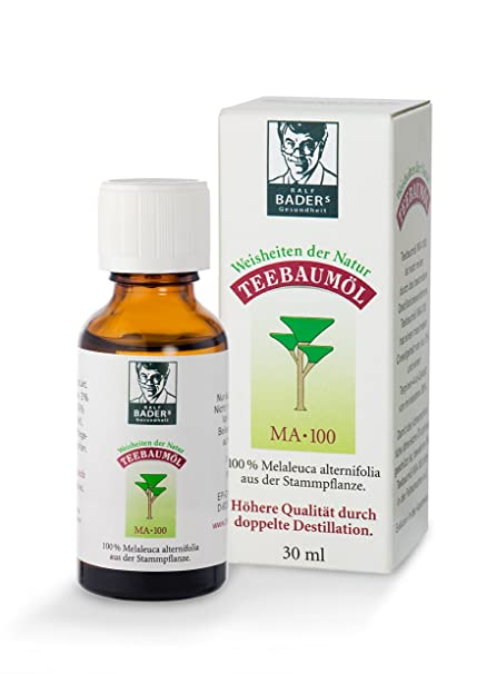 BADERs Teebaumöl MA-100 de la farmacia. Aceite del árbol del té. 30