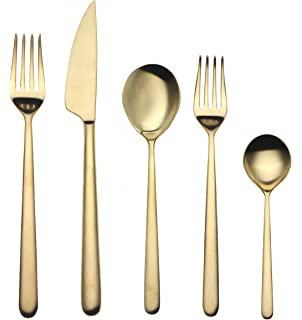 Mepra 20-Piece Linea Ice Oro Flatware Set
