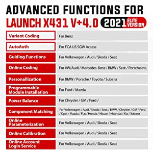 Launch X431 Pro 3 is an diagnostic device that is compatible with vehicles built in America, Europe and Asia and individual software of these vehicles.