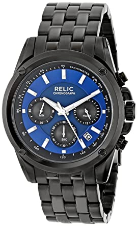 Amazon Relic Mens Zr66035 Grant Black Watch Watches