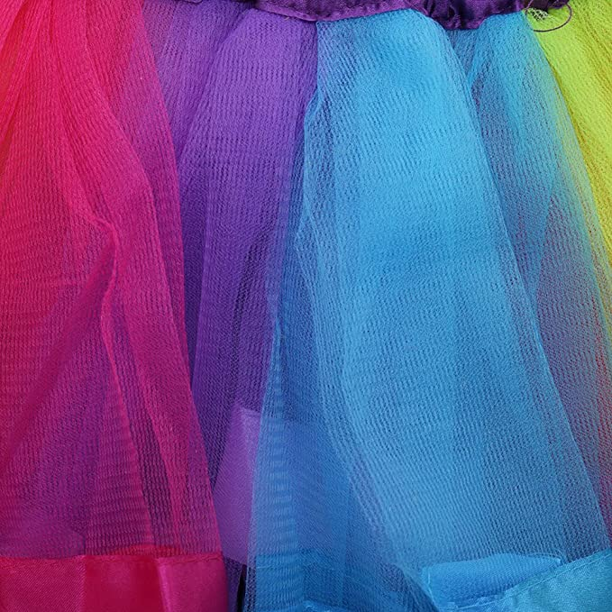 Little Girls Layered Rainbow Ribbon Tutu Skirts Dress for Toddler Baby Vidillo Tutu Skirt