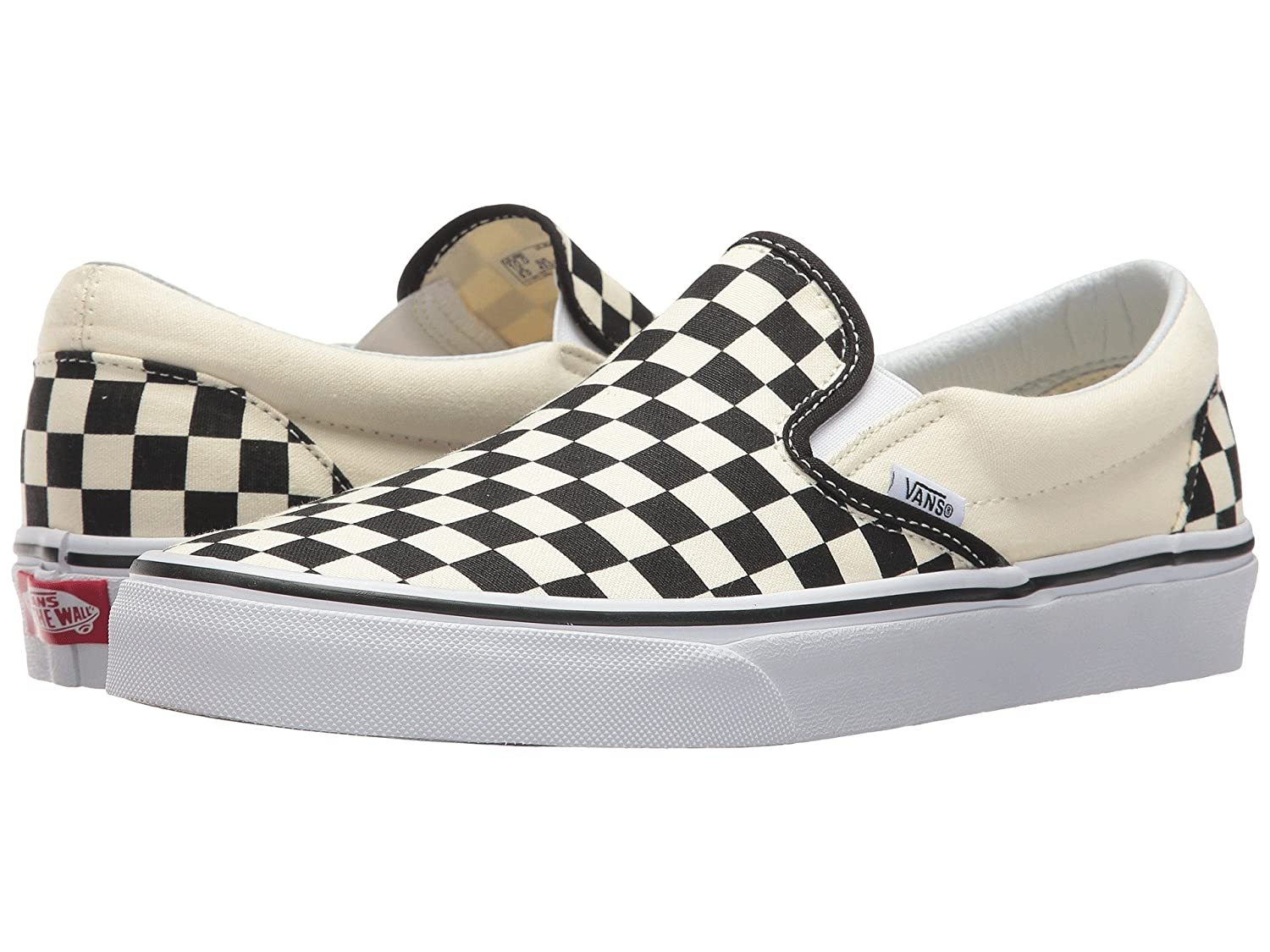 Vans Unisex Classic (Checkerboard) Slip-On Skate Shoe B073LVV47N 5.5 M US Women / 4 M US Men|Black/White Checkerboard