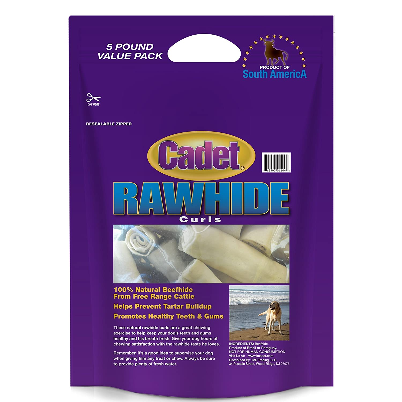 Cadet Rawhide Dog Treat Curls