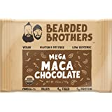 Bearded Brothers Maca Chocolate Whole Food Energy Bar - Paleo, Gluten Free, Soy Free, Vegan, Non-GMO, Organic, Low Glycemic, Great Source of Protein and Fiber (12-Pack)