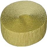 Plain Crepe Streamer   Gold   Party Decor