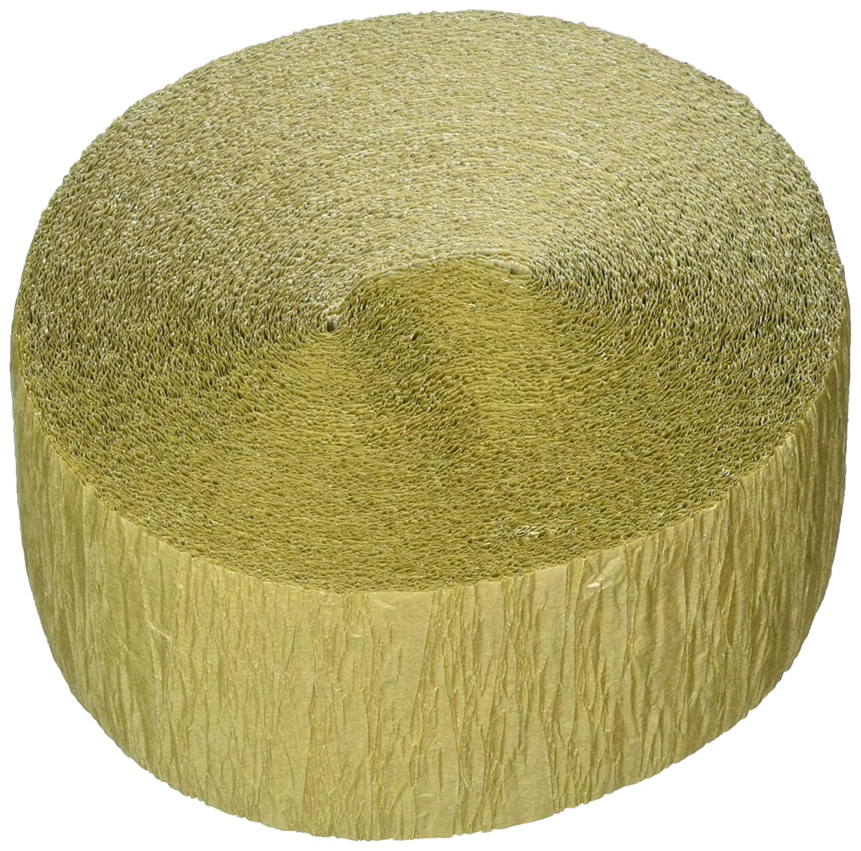 Gold Party Decor Amscan 185051.19 Plain Crepe Streamer