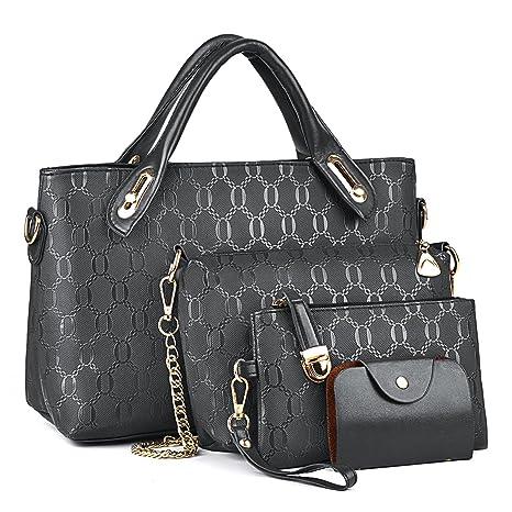 48bb440a8 Bolsos de Moda,Coofit Bolsos Mujer Bolso de Mano Monedero Bolsas de 4 piezas