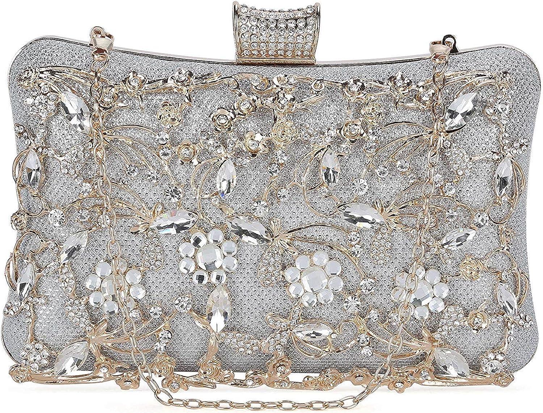 Selighting Womens Crystal Evening Clutch Bag Wedding Purse Bridal Prom Handbag Party Bag