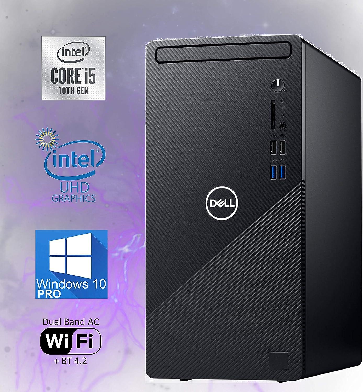 Dell Inspiron 3880 Desktop Computer, 10th Gen Intel Core i5-10400 Upto 4.30 GHz, 16GB RAM, 512GB M.2 NVMe SSD + 1TB HDD, AC Wi-Fi, Bluetooth, HDMI, VGA, DVD-RW, SD-Card - Windows 10 Pro