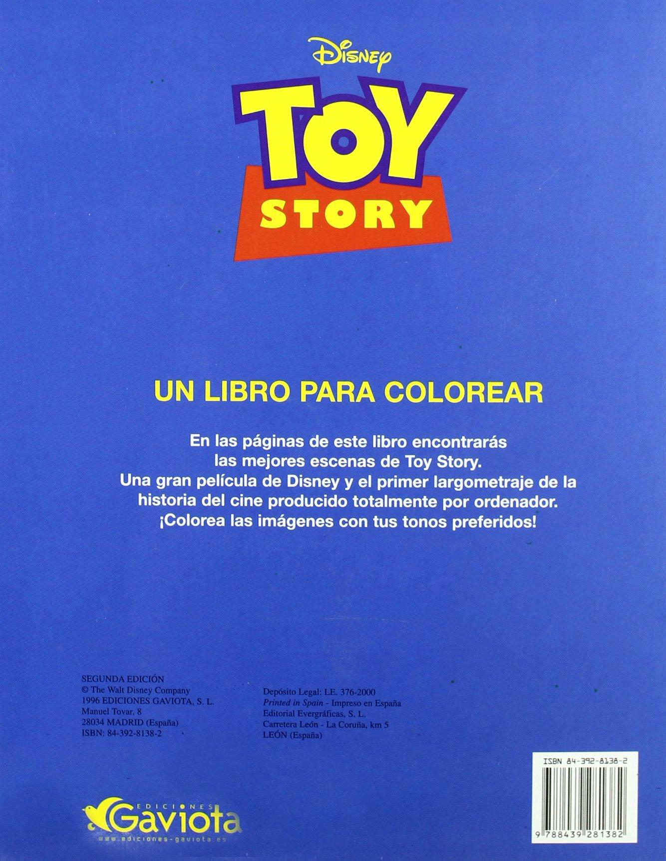 Toy Story: un libro para colorear Un cuento para colorear: Amazon.es: Walt Disney Company: Libros