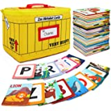 Urban Kiddy Zoo Alphabet Cards | Soft Alphabet Flash Cards, Educational Early Learning Infant Toys for Babies Infants Toddler