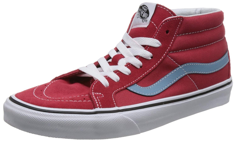 Vans Sk8-Mid Reissue, Zapatillas Altas Unisex Adulto 35 EU|Rojo (Rococco Red/Adriatic Blue Q8c)