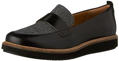 Clarks Women's Glick Avalee Flat Gray Size 8.0