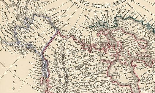 Map Of Canada 1850.Amazon Com British North America Canada Russian America Alaska C