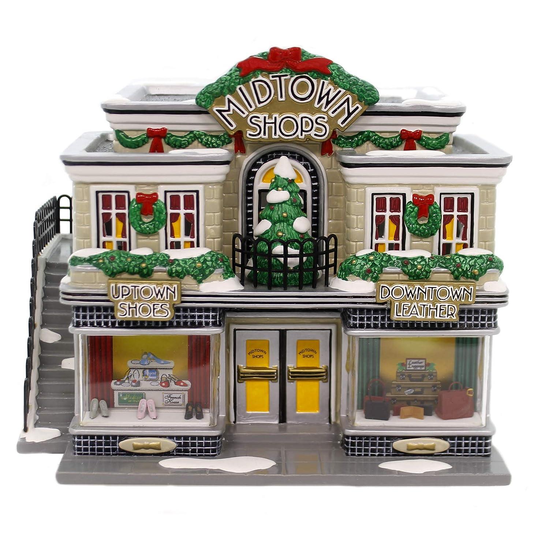 Dept 56 - Snow Village - Midtown Shops by Enesco - 55334 Department 56