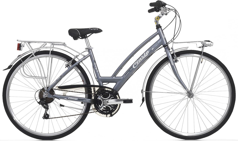 Cicli Cinzia Bicicleta Vita para Mujeres, Cuadro de Aluminio, 21 ...