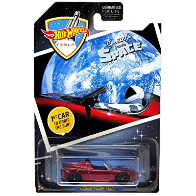 Hot Wheels 2020 Greetings From Space '08 Tesla Roadster, Maroon: Toys & Games
