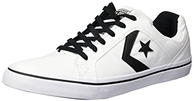 aa32a4cdc620 Converse Men s El Distrito Canvas Low Top Sneaker Black White
