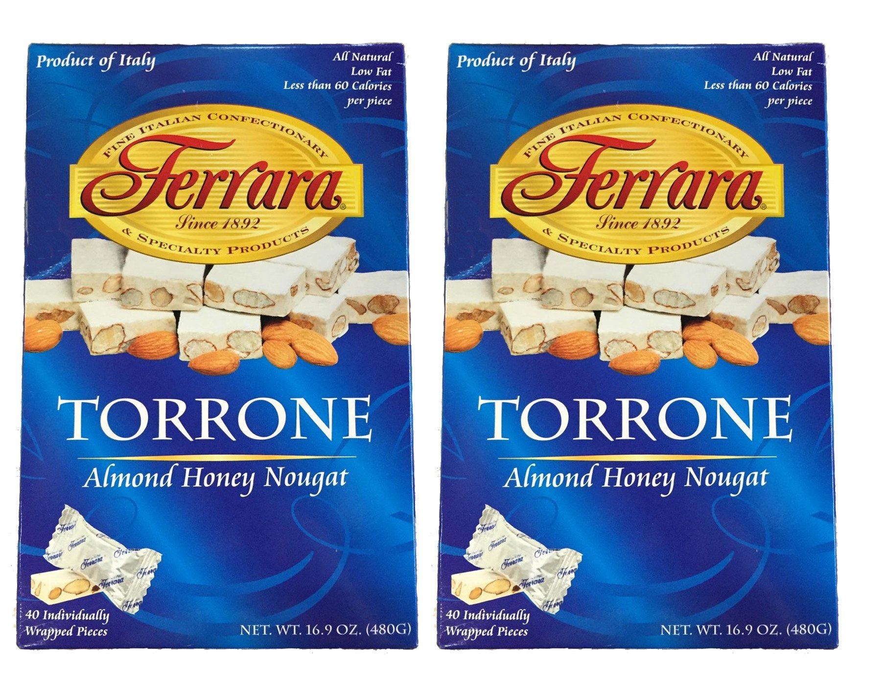 Ferrara Torrone Candy, 40-count Box - Imported From Italy. 2 Boxes. by Ferrara