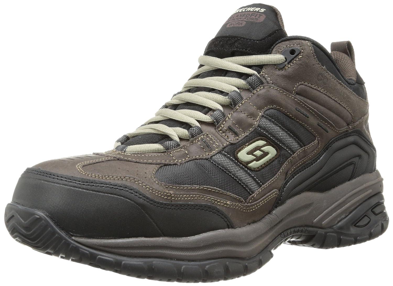 Skechers Work Men's Soft Stride Canopy Slip Resistant Work Boot Brown/Black