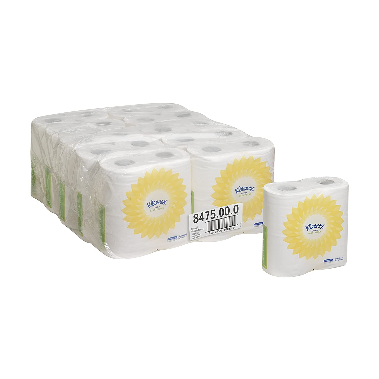KLEENEX* ULTRA Toilet Tissue Rolls 8475 -  240 white, 2 ply sheets per roll (case contains 40 rolls) Kimberly-Clark Professional
