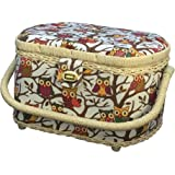 Michley Sewing Basket with Sewing Kit Owls